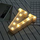 MUITOBOM LED-Lichter mit Alphabet-Buchstaben, 26 Buchstaben, Kunststoff, beleuchtet, für Geburtstag, Hochzeit, Party, Bar, Schlafzimmer, Wanddekoration 5740