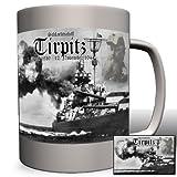 Schlachtschiff Tirpitz Großadmiral Alfred von Tirpitz Bismark Klasse Schiff Militär Gemälde Portrait schwarz weiß -Tasse Kaffee Becher #826