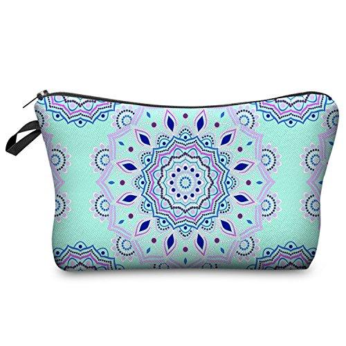 Mandala astuccio floreale astucci felpa borsa penna cosmetico viaggio componga il sacchetto regalo per scuola bambini ragazze (2)