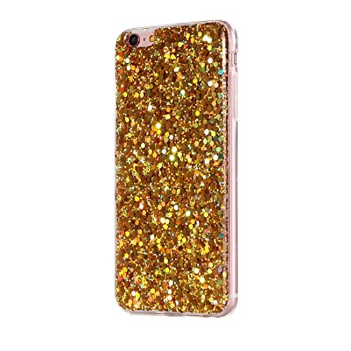 Phone case & Hülle Für iPhone 6 Plus / 6s Plus, Glitzer Powder Soft TPU Schutzhülle ( Color : Pink ) Gold