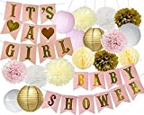 Baby Shower Decorations BABY Shower & It's A Girl Bunting Banner Papier de soie...