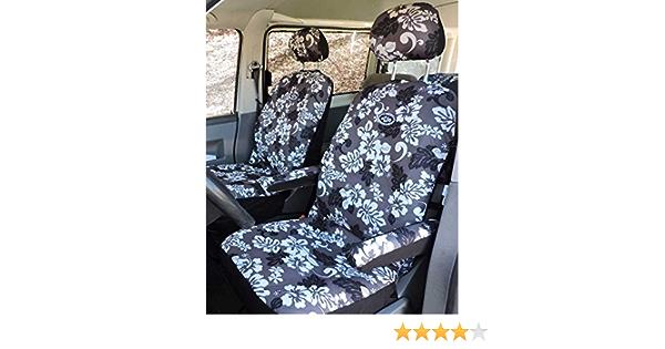 Hang Loose Aloha Hawaii Autositzbezüge Fahrer Beifahrerbezuege Inkl 2 Stück Kopfstützen Und 4 Stück Armlehnenbezüge Passend Für Fast Alle Autositze Auch Z B Vw T3 T4 T5 T6 Auto