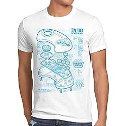 style3 Mega 16-Bit Controller Cianografica T-shirt da uomo console sonic
