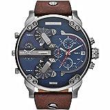 X & D New Arrivals DZ Top Qualität Herren Uhren Digital Sport Armbanduhr Military Quarz Armbanduhren DZ7314–rejoles Montre Homme, braun