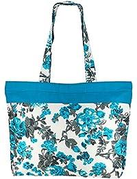 Bolsa de la compra de usos múltiples - La bolsa de asas de algodón con cierre de cremallera y dos asas