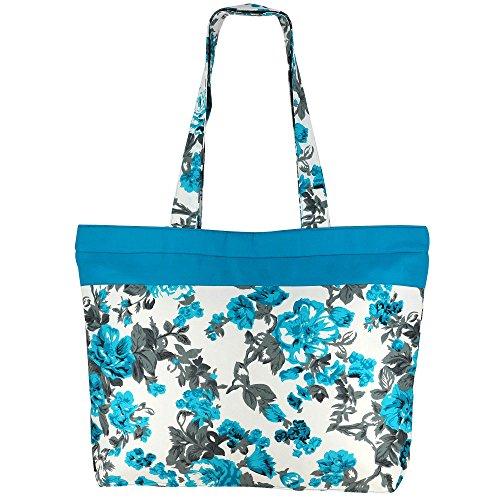 Multipurpose Shopping Bag - Coton Sac fourre-tout avec fermeture à glissière et poignées doubles
