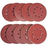 10, Grit 40 - Coarse 150mm Wet and Dry Sanding Discs 6in Hook and Loop Plain Waterproof 6 Sandpaper 40-3000 Grit