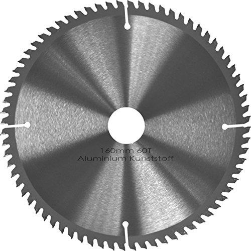 Kreissägeblatt Aluminium Kunststoff NE-Metalle Ø 160mm x 30mm HM 60 Zähne - Diamantschliff - inkl. 4 Reduzierringen. (Aluminium-kreissägeblatt)