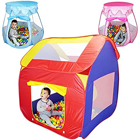 Monsieur Bébé ® Tienda de juego plegable para los niños + 200 bolas y Bolsa de almacenamiento – Tres modelos – Norma