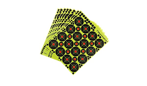 Sharplace 160Pcs Cibles de Tir R/éactive Auto-Adh/ésif Cible en Papier 5cm
