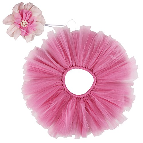 Free Fisher Baby Mädchen 2er Bekleidungsset (Rock+ Stirnband), Kostüm für Neugeborenes, Pink, 0-2 Monate ( Herstellergröße: S)