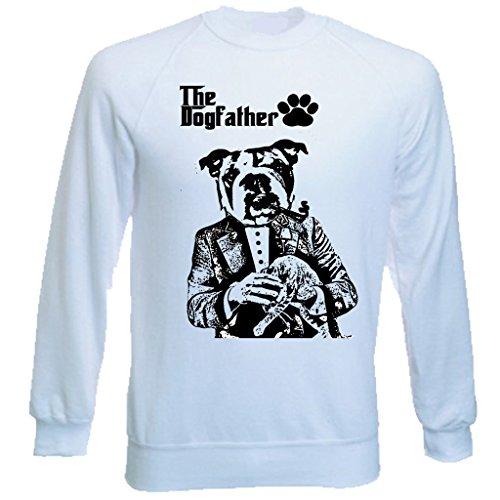 Teesquare1st Men's BRITISH BULLDOG DOG RULES PB 1 White Sweatshirt T-Shirt Size XXLarge