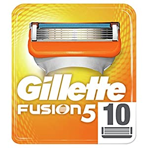 Gillette Fusion Men's Razor Blades, Pack of 10 Refills