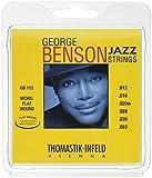 Thomastik Corde per chitarra elettrica George Benson Jazz Guitar set GB112 Medium Light Nickel flatwound .012 -.053