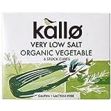 Kallo Verly Low Salt - Pastillas de caldo de verduras (11 g, bajas en sal, paquete con 6 cubos)