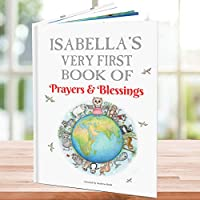 My First Prayers and Blessings Book Personalised for Children - Hand Illustrated - Keepsake Gift