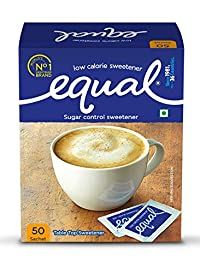 Equal Sugar Control Low Calorie Sweetener (50 Sachets - Pack of 1)