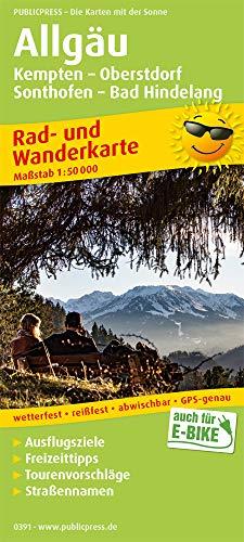 Allgäu, Kempten - Oberstdorf, Sonthofen - Bad Hindelang: Rad- und Wanderkarte mit Ausflugszielen, Einkehr- & Freizeittipps, wetterfest, reissfest, ... 1:50000 (Rad- und Wanderkarte / RuWK)