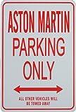 Signes de stationnement ASTON MARTIN - ASTON MARTIN Parking Only Sign