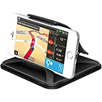 YIIYAA Cell Phone Holder for Car YiiYaa Universal Dashboard Mounts Silicone Non-Slip Washable GPS Holder Car Cradles for iPhone X 8 7 6 5Plus Samsung Galaxy Note 8 S8 Plus S7 Edge-Black
