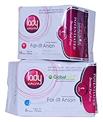 Lady Anion Sanitary Napkins, Day Use 1 & Night Use 1