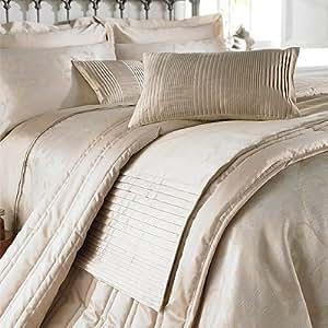 charlotte thomas chemin de lit imitation soie caterina beige 50 x 240cm cuisine. Black Bedroom Furniture Sets. Home Design Ideas