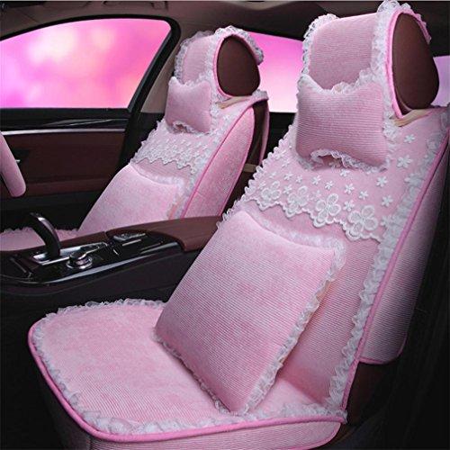 YL Vier Jahreszeit-Auto-Sitz-Damen-Kissen-Volle Abdeckungs-Sitzabdeckung, Pink,Pink