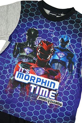Image of Boys Official Power Rangers Morphin Time Shorty Cotton Pyjamas sizes from 3 to 10 Years