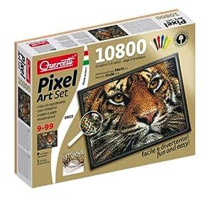 Quercetti–00803–mitres Pixel Art Set 10800Tigre