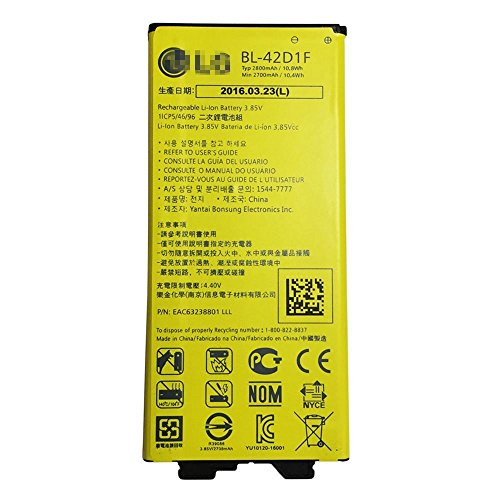 Original LG Akku BL-42D1F für LG G5 2800mAh (Handy Lg Batterie Ersatz)