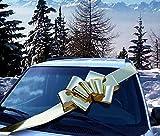 GiftWrap Etc. Grande Fiocco Metallico per Auto d'oro - Grande Decorazione Regalo Nastro, Completamente Montato, 25'Wide, Natale, Compleanno, Laurea