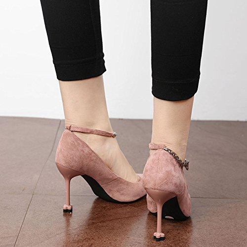 tacchi black scarpe lady da personalita lavoro FLYRCX la autunno punta bene inverno tacco scarpa festa in in e qqTwnP6f