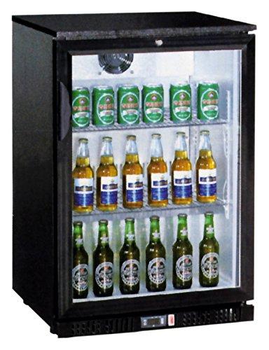 Flaschenkühler, 138 Liter, 600 x 520 x 900 mm, mit Glastür, -