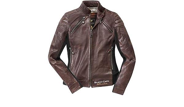 Black Cafè London LJ10685 woman leather jacket Black