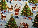 Quilt-Stoff aus Baumwolle, nostalgischer Weihnachtsmann,