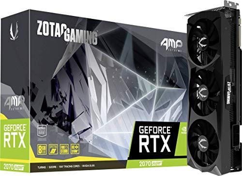 ZOTAC GAMING GeForce RTX 2070 Super AMP Extreme Grafikkarte (NVIDIA RTX 2070 Super, 8GB GDDR6, 256 Bit, Boost-Takt 1830Mhz, 14Gbps)