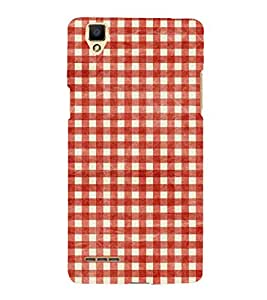Fiobs Designer Back Case Cover for Oppo F1 :: A35 (Lines Straight Colorful White Cloth Apron)