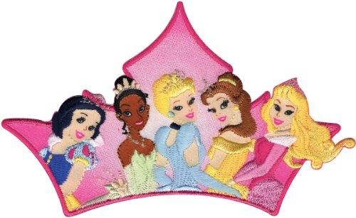 Disney Großer multi-princess Krone Aufnäher, mehrfarbig (Disney Princess Kronen)