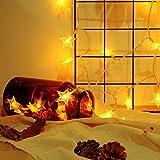 Dazzne Fairy Lights Stars Strip Battery Operated 6M 40 LED Christmas Weeding Party Decor (Warm White)