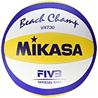 Mikasa VXT30 Beach Champ DVV - Pelota para volley playa, color azul/amarillo / blanco - 66-68 cm Umfang