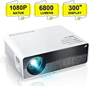 """ELEPHAS Projector Q9 Native 1080P HD Video Projector, 5500 Lumens up to 300"""" Image Display Ideal for PPT"""