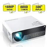 """ELEPHAS Proiettore Q9 Native 1080P HD Videoproiettore, 6800 lumen supporto 2K fino a 300"""" Display immagine, Ideale per presentazioni aziendali PPT Giochi di intrattenimento per l'home theater"""