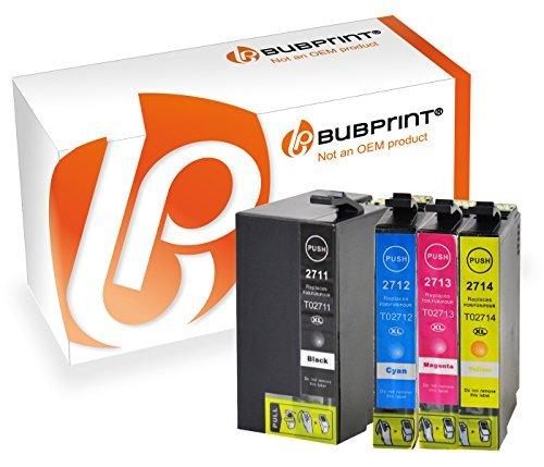 Preisvergleich Produktbild Bubprint 4 Druckerpatronen kompatibel für Epson T2701-04 T2705 T2715 27XL SET