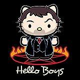 Hello Boys Crowley King Of Hell Supernatural Kitty Kid's T-Shirt