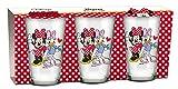 empireposter Glas-Set - Minnie Mouse und Daisy - 237 ml - 3 Gläser Trinkglas Kinder Geschirr