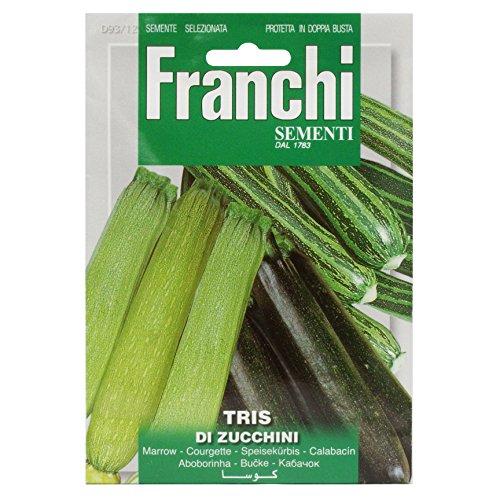 Seeds of Italy Franchi Graines de courgettes 3 variétés