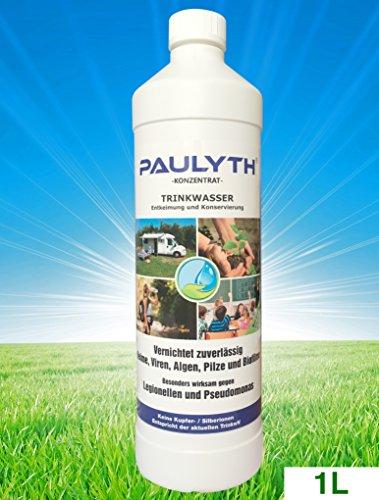 PAULYTH (1 Liter) - Trinkwasserentkeimung und Konservierung - Wundbehandlung - Keine Kupfer-/Silberionen - Entspricht der aktuellen Trinkwasserverordnung (TrinkwV)