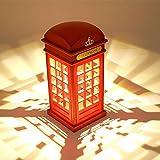 LED Nachtlicht Touch Dimmable Nachttischlampe USB London Telefonzelle Licht für Baby Schlafzimmer Dekor Neuheit Geburtstag Geschenk (nicht enthalten Batterien)