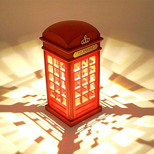 Dimmable Nachttischlampe USB London Telefonzelle Licht für Baby Schlafzimmer Dekor Neuheit Geburtstag Geschenk (nicht enthalten Batterien) ()