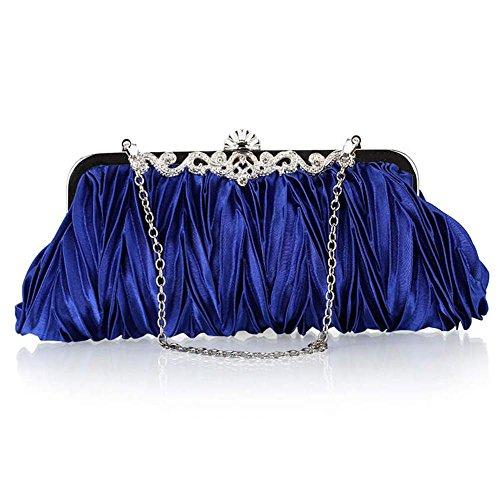 WZW Sacchetto di spalla della borsa di sera per il partito. la cerimonia nuziale e i club . champagne treasure blue